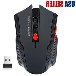 New Gaming Wireless Mouse USB Receiver Optical Mice Ergonomi