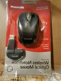 NEW NIB Microsoft Wireless Notebook Optical Mouse Black Mode