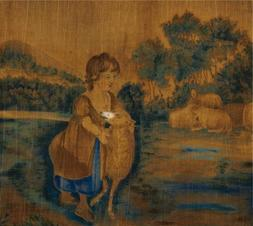 Oil Painting 'unknown,Mary And Her Lamb,ca.1820-1840' Printi