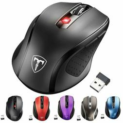 VicTsing Optical Wireless Mouse Gaming Mice USB Receiver for