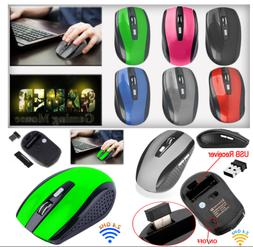 Optical Wireless Mouse Gaming Mice USB Receiver for PC Deskt