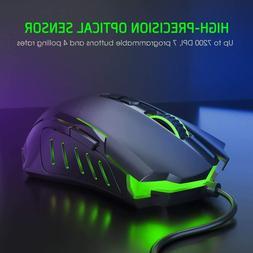 PICTEK Gaming Mouse 7200 DPI Programmable Breathing Light 7