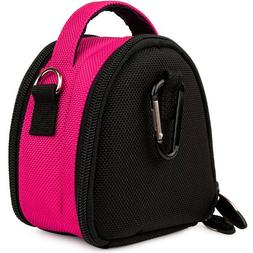 Hot Pink Limited Edition Camera Bag Carrying Case with Extra