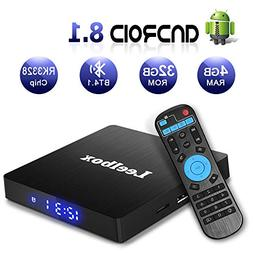 Android 8.1 Box, Leelbox Q4 S 4GB+32GB Quad Core Smart TV Bo