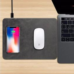 Qi Wireless Charger Mouse Pad for X 8 8Plus S8 Plus Note 8 -