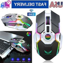 Rechargeable Wireless Gaming Mouse RGB Colors Backlit Mice f