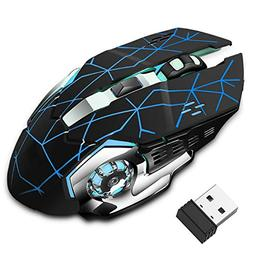 Rechargeable Wireless Gaming Mouse, Bluetooth USB Computer M