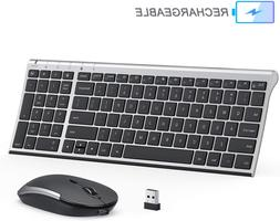 Rechargeable Wireless Keyboard Mouse Combo, Jelly Comb 2.4GH