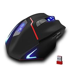 Zelotes Rechargeable Wireless Mouse with USB Receiver,600/10