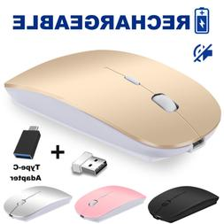 Rechargeable Wireless Mouse VEGCOO C13 Slim Silent Click Noi