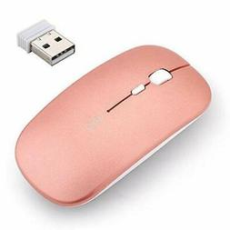 Rechargeable Wireless Mouse,inphic Mute Silent Click Mini No