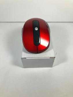 Red JETech Wireless Mobile Optical Mouse 2.4Ghz w/ 3 CPI Lev