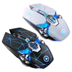 Silent Rechargeable Wireless Mouse Gaming Mice Computer Acce