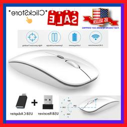 Silent Wireless Mouse, 2.4G Slim Portable Travel Optical, Fo