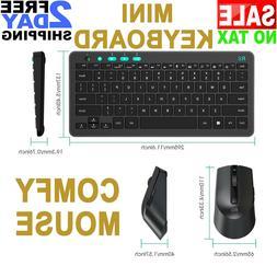 Slim Bluetooth Wireless Desktop Computer Keyboard and Mini M