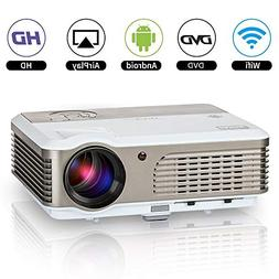 LED Smart Movie Projector Home Theater Outdoor Wireless LCD