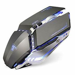 TENMOS T12 Wireless Gaming Mouse Rechargeable, 2.4G Silent O