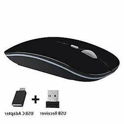 TENMOS T9 Silent Wireless Mouse 2.4G Ultra Slim Mouse Optica