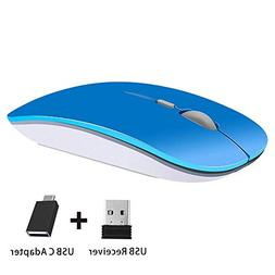 TENMOS T9 Silent Wireless Mouse, 2.4G Ultra Slim Portable Tr