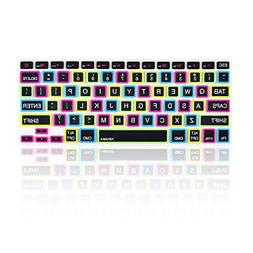 "TopCase Candy Black Keyboard Cover Skin for Macbook 13"" Unib"