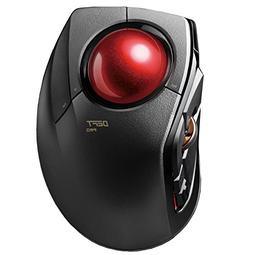ELECOM Trackball Mouse M-DPT1MRXBK, Wired, Wireless, and Blu