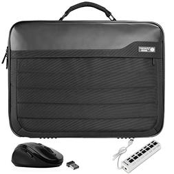 VanGoddy Trovo Professional Laptop Briefcase Bag with USB Hu