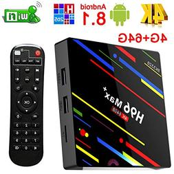 Android 8.1 tv Box, Yongf H96 MAX+ Android 8.1 4G 64GB Smart