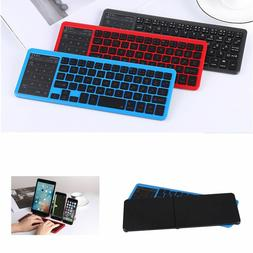 UK Portable Wireless Bluetooth Keyboard Touchpad Mouse For i