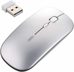 Inphic Ultra Thin Rechargeable Wireless Mouse with USB Recei