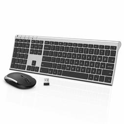 Jelly Comb Ultra-Thin Wireless Keyboard + Mouse 2.4GHz Black