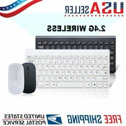 Ultra-Thin Wireless Keyboard + Mouse Combo Set 2.4G Wireless