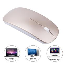 EIGIIS Ultra Thin Wireless Silent Click Mouse With Optical C