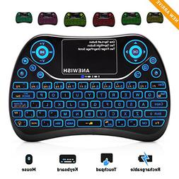 ANEWISH 2.4GHz RF Wireless Mini Keyboard with Touchpad Mous