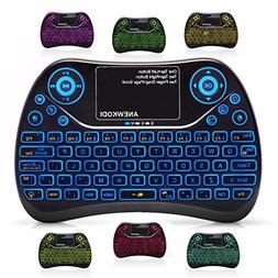 ANEWKODI  2.4GHz Wireless Mini Keyboard Backlit with Touchpa