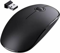 Upgraded Slim Wireless Mouse 2.4G Silent Laptop Mouse with N