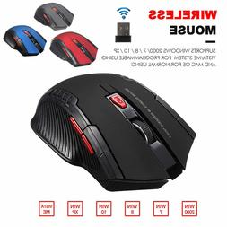 US 2.4 GHz Wireless Optical Gaming Mouse Mice & USB Receiver