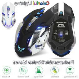 USB 2.4GHz Rechargeable Wireless Ergonomic Mouse 7 Colorful