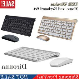 USB 2.4GHZ Wireless Slim Keyboard and Cordless Mouse Combo K