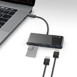 ATECH USB-C to 3 Port USB 3.0 Hub Thunderbolt 3 Adapter Micr