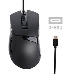USB C Mouse, Tuoliwei Macbook Gaming Mouse Wired Ergonomic O
