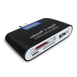 USB C OTG Adapter, LDesign 4-In-1 Super Speed Portable USB 3