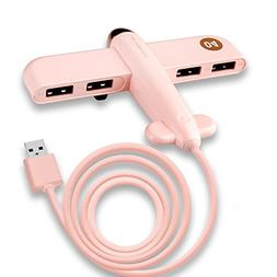 ASAKI 4 Port USB Hub Creative Plane Shape USB Extension with
