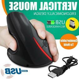 5D USB Wireless Ergonomic Design Vertical Optical Mouse Mice