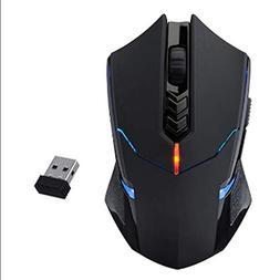 USB Wireless Mouse 7 Button Wheel 2.0 Game Mouse 2000DPI Adj