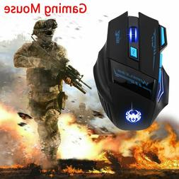 USB Wireless Gaming Mouse LED Adjustable 2400dpi Optical Mic