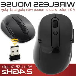 USB Wireless Optical Mouse For Windows HP Acer Lenovo Dell P