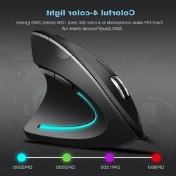 Vertical Ergonomic Shark Fin Style 1600DPI Optical Mouse Wir