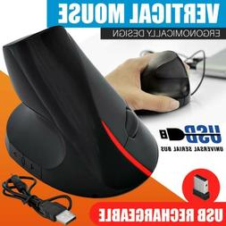 Vertical Mouse Wireless Ergonomic Optical 2.4 GHz Mouse w/Ad