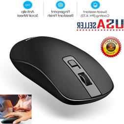 VicTsing Slim 2.4GHz Wireless Mouse USB 2.0 Receiver For Lap