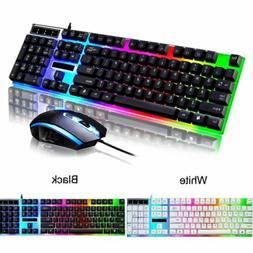 VicTsing Ergonomic LED Backlit USB Gaming Keyboard Mouse Wor
